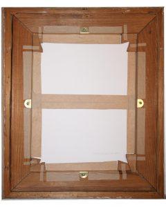 Rückseite Gemälde mit Rückseitenschutz aus säurefreiem Karton